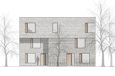 BUB architekten bda _ Mehrfamilienhaus Trenkner Weg _ Nordfassade_Frontbild (1 von 1)